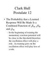 clark hull postulate 12
