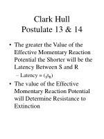 clark hull postulate 13 14