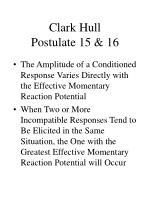 clark hull postulate 15 16
