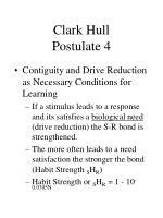 clark hull postulate 4
