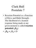 clark hull postulate 7