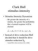 clark hull stimulus intensity