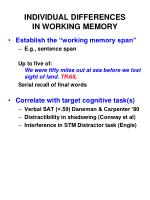 individual differences in working memory
