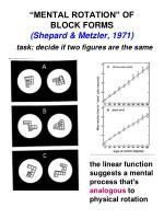 mental rotation of block forms shepard metzler 1971