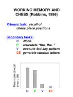 working memory and chess robbins 1996