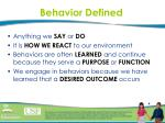 behavior defined