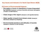 key issues and indicators for north cape breton ncb