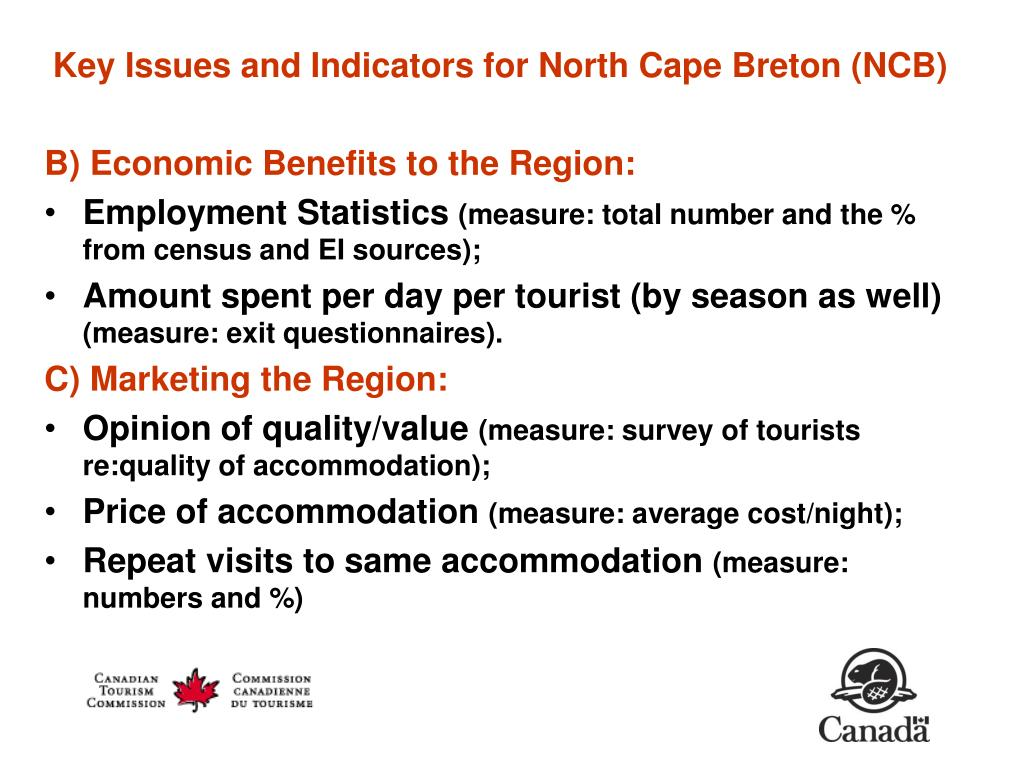 Key Issues and Indicators for North Cape Breton (NCB)