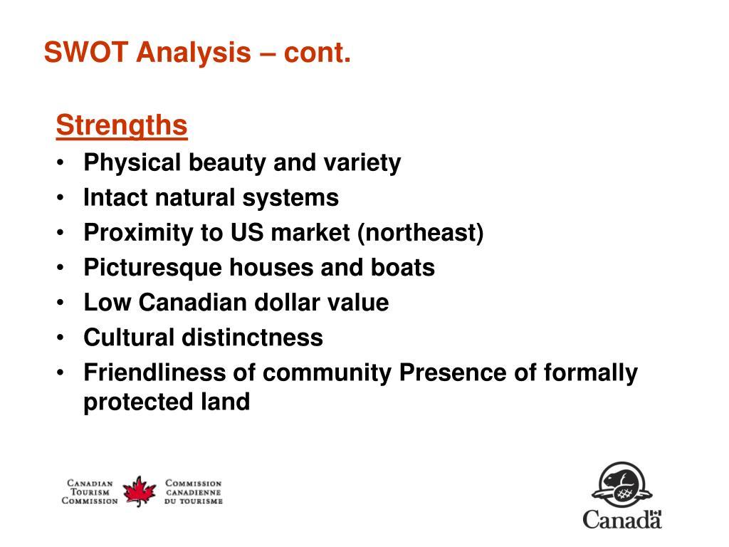 SWOT Analysis – cont.