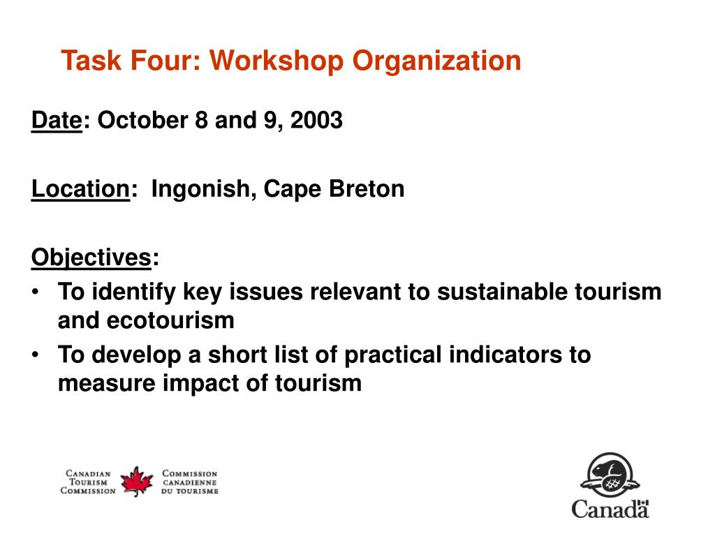 Task Four: Workshop Organization