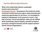 task one methodological definition
