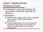 direct observation frequency count