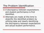 the problem identification