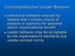 counterproductive leader behavior1