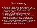 gdm screening