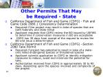 other permits that may be required state
