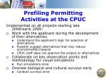 prefiling permitting activities at the cpuc