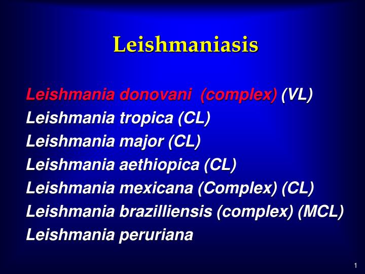 leishmaniasis n.