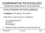 comparative psychology evolutionary explanations of human behaviour1