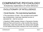 comparative psychology evolutionary explanations of human behaviour10