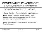 comparative psychology evolutionary explanations of human behaviour11