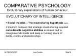 comparative psychology evolutionary explanations of human behaviour13