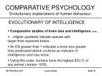 comparative psychology evolutionary explanations of human behaviour17