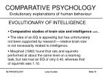 comparative psychology evolutionary explanations of human behaviour18
