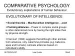 comparative psychology evolutionary explanations of human behaviour7