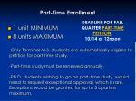 part time enrollment