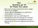 how greenbox got 24 eu flower eco labels