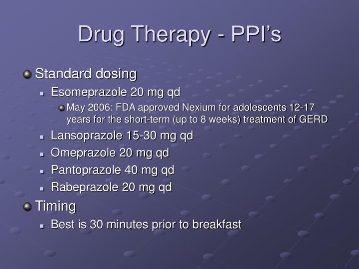 Drug Therapy - PPI's