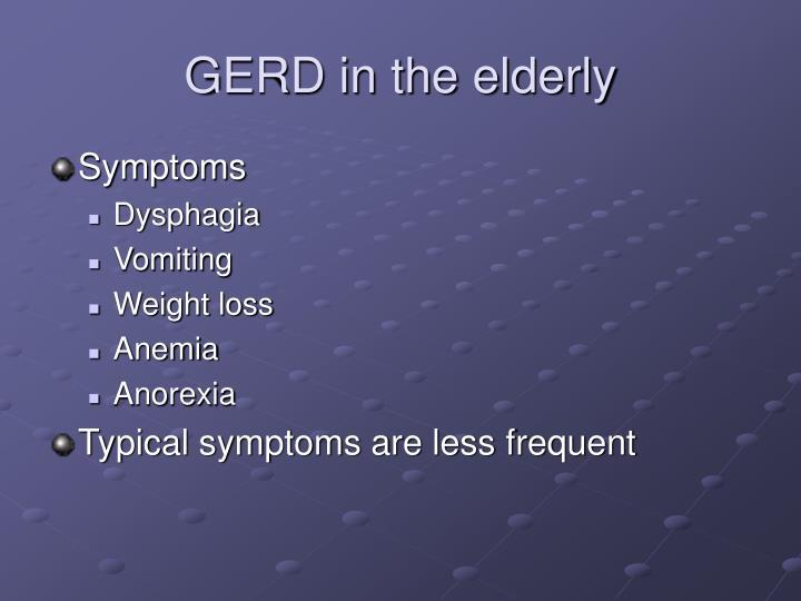 GERD in the elderly