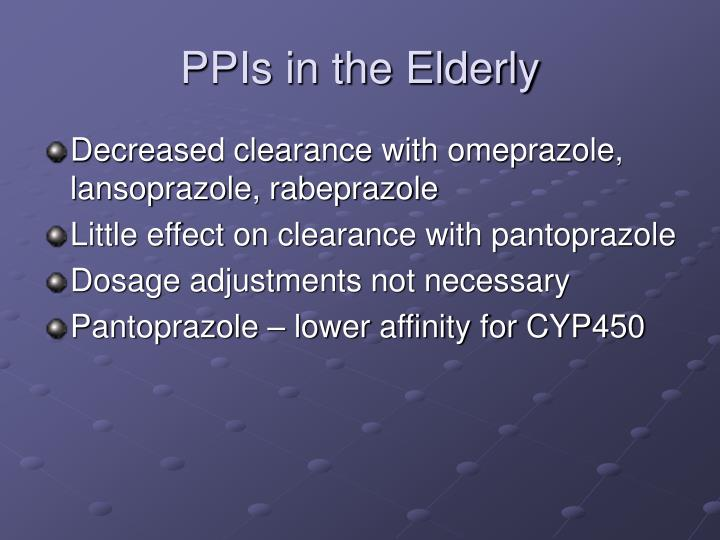 PPIs in the Elderly