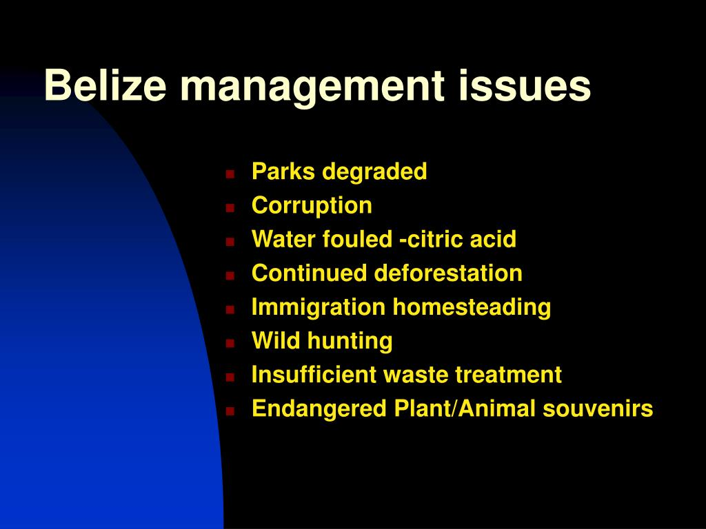 Belize management issues
