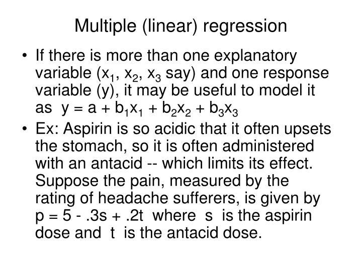 Multiple (linear) regression