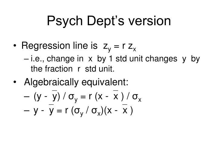 Psych dept s version