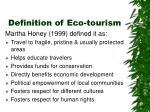 definition of eco tourism