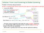 solution from local clustering to global clustering