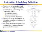 instruction scheduling definition