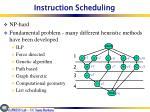 instruction scheduling1