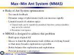 max min ant system mmas