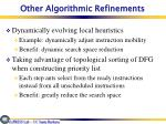 other algorithmic refinements