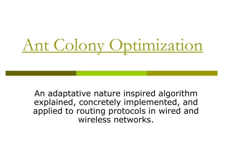 ant colony optimization n.