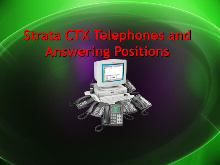 strata ctx telephones and answering positions n.
