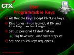 user programmable keys