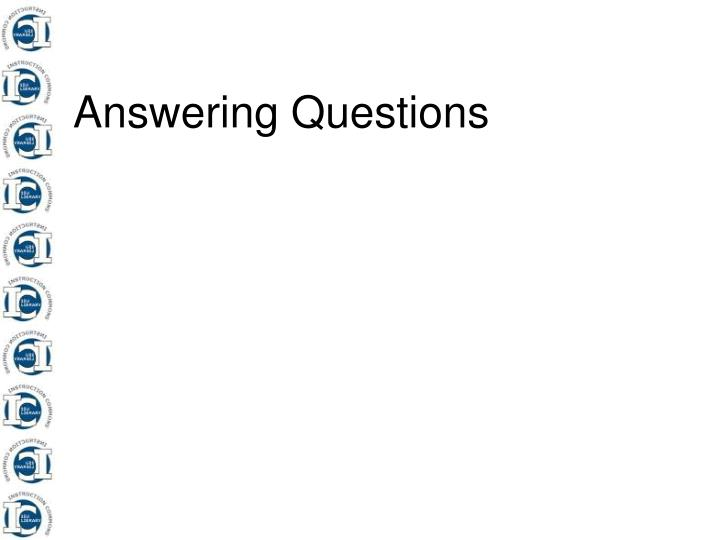 answering questions n.