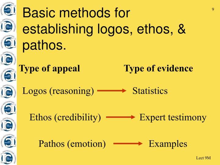 Ethos (credibility) Expert testimony