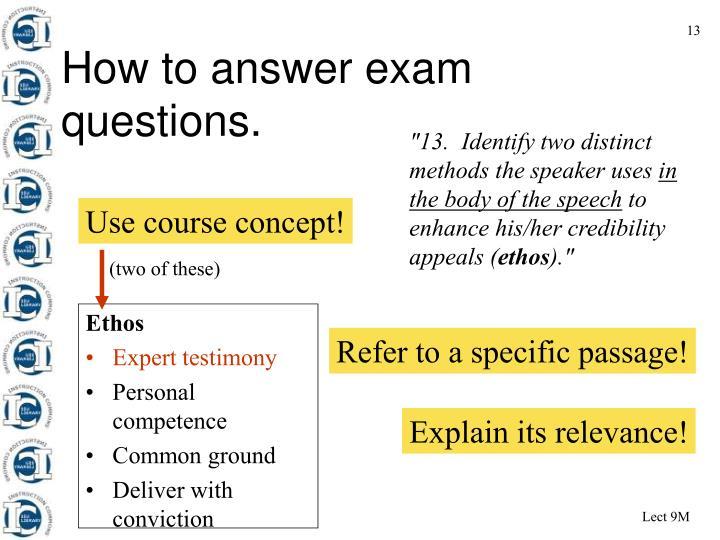 Use course concept!