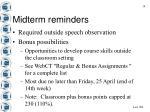 midterm reminders